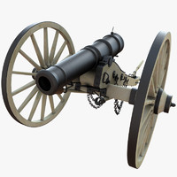 6 field cannon 3d max