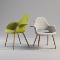 organic chair charles 3d max