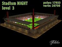 3dsmax stadium level 3