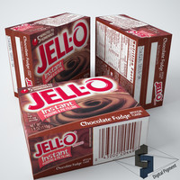 jell-o chocolate fudge pudding 3d model