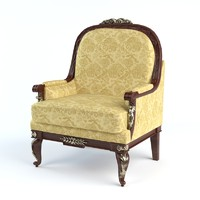 3d realistic louis xv style model