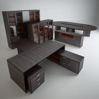 A set of office furniture.