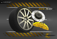 alloy wheel car tire 3d obj