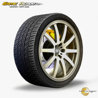 3ds max alloy wheel car tire