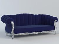 classical sofa furniture 3d model