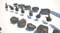 sci fi debris pack 3d model