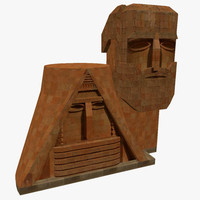 grandfather grandmother statue stepanakert 3d model