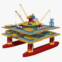 oil platform 3d dxf