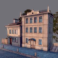 obj old street scene