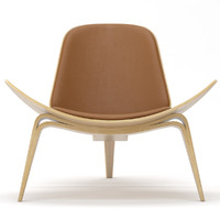 3d model of shell chair hans
