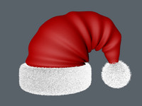 santa hat 3d c4d