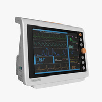 3d electrocardiograph monitor model