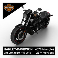 2010 harley-davidson night rod obj