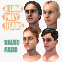 male heads obj
