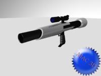 conceptual rocket launcher 3d max