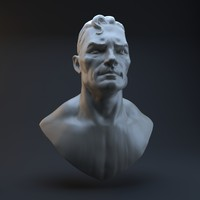 head superman 3d obj