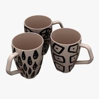 3d cups model