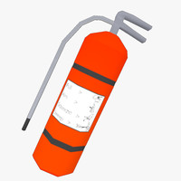 ready extinguisher 3d model