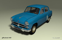3ds max mzma 402 moskvitch