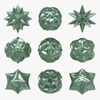 3ds voronoi star 9 shapes