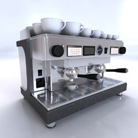 barista coffee machine 3d model