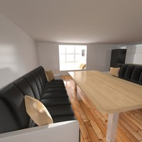 3d model of kitchen dining room