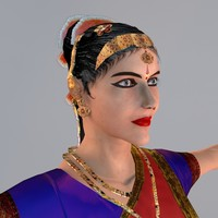 bharatanatyam dance female dancers 3d max