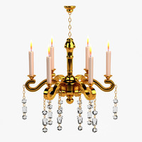 3d baroque chandelier