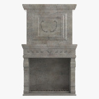 baroque fireplace 3d model