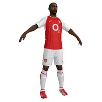 3d thierry henry arsenal model