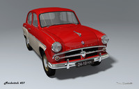 3ds max mzma 407 moskvitch