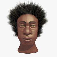 3ds african male afro head