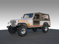 3d model jeep cj 8 scrambler