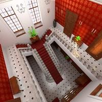 3dsmax luxury lobby