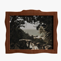 antique painting 3ds