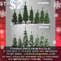 wild forest fir trees 3d max