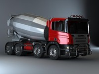 concrete mixer mix 3d max