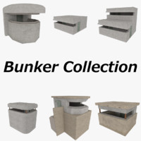 3ds max set bunkers