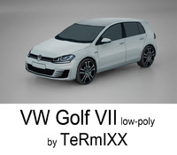 3ds max car golf vii
