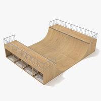 skate ramp - half pipe 3d max