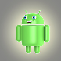 3d model of cartoon android logo