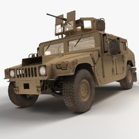 3d model of realistic hmmwv military humvee