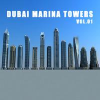 dubai marina towers vol 3d 3ds