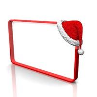 3d santa frame model