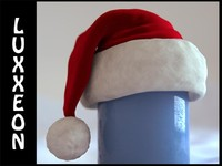 3ds max santa christmas hat