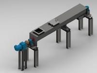 screw conveyor components 3d model