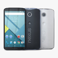 motorola google nexus 6 3d model