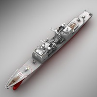 3d uss aegis cruiser cg-47