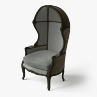 3d model classic chair