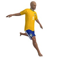 3d beach soccer player rigged